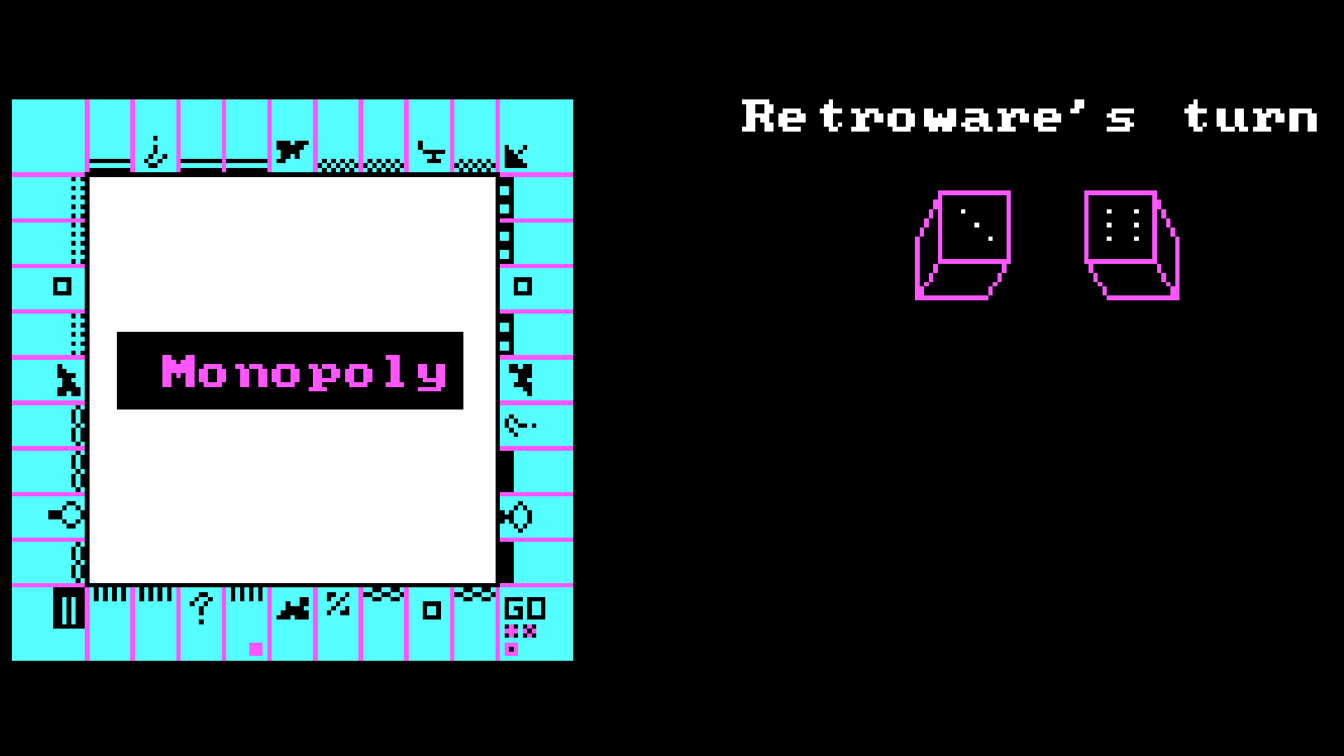 Image of gameplay from MONOPOLY (D. Gibson, 1987)
