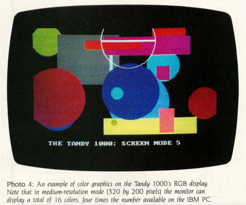 An example of Tandy 1000 color graphics