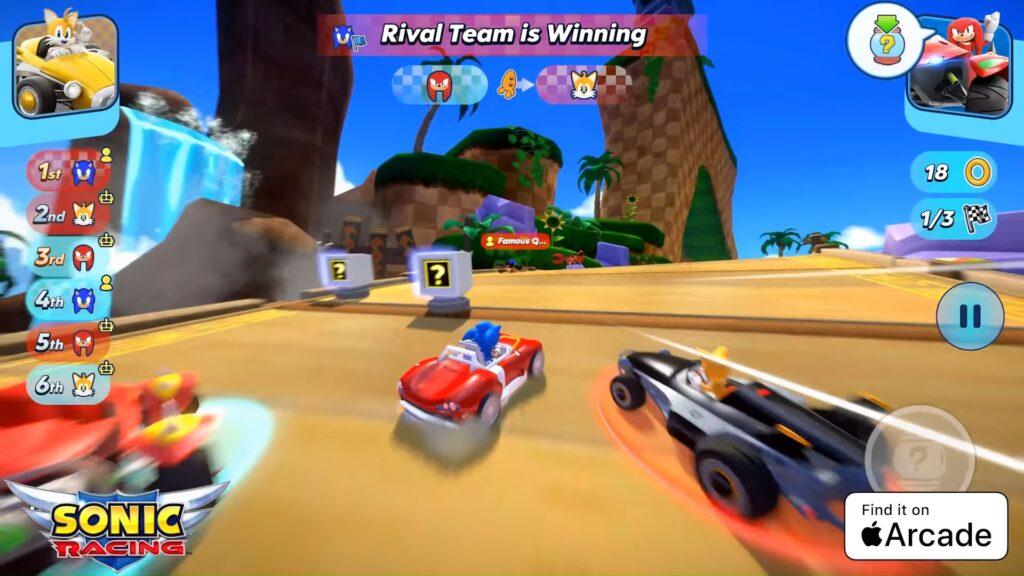 Sonic Racing Apple Arcade Classic Zone