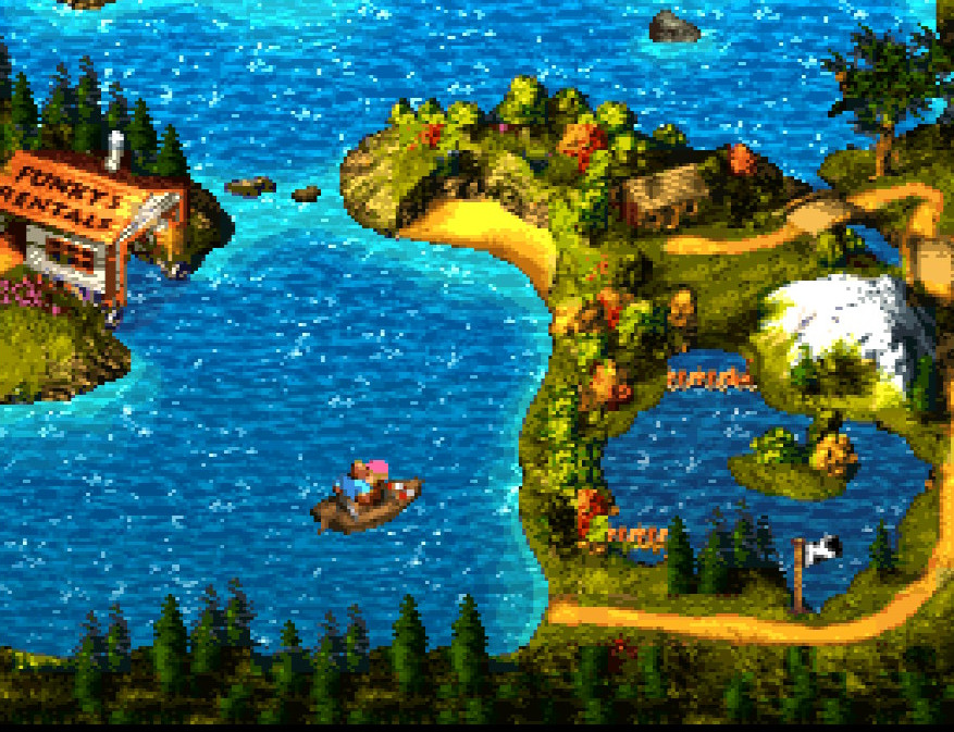The overworld map in DKC3