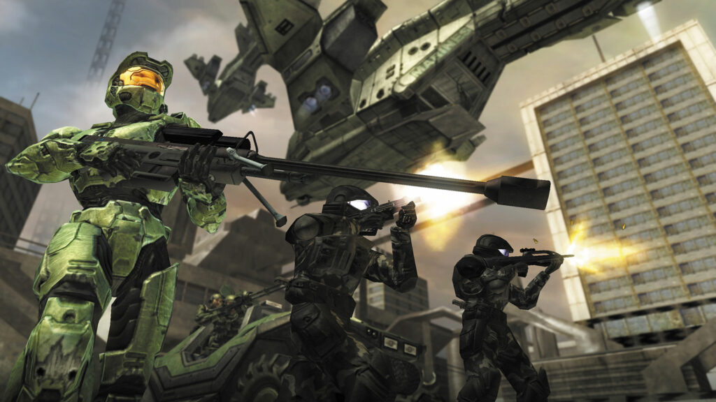 Master Chief and UNSC soldiers Halo 2
