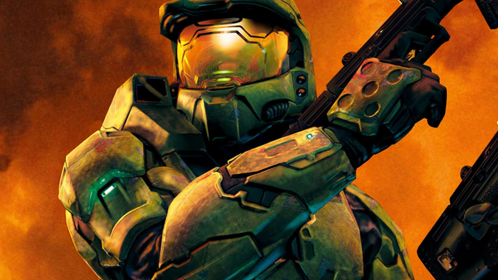 Master Chief from Halo 2's official art