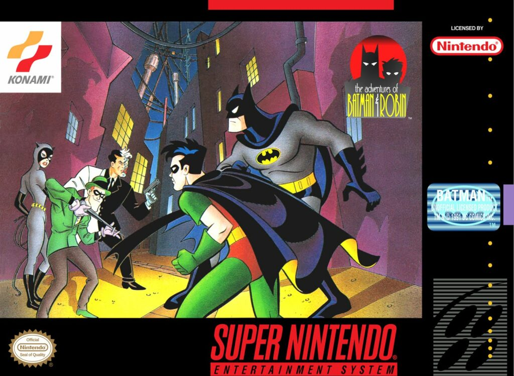 Official box art for The Adventures of Batman & Robin