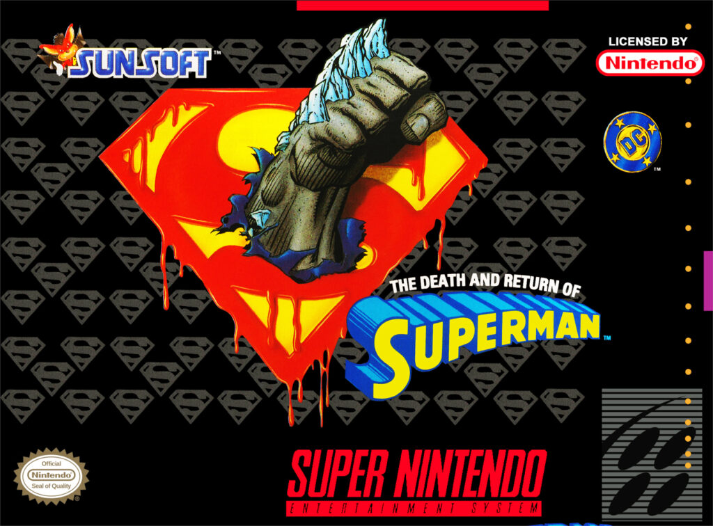 Official box art for The Death and Return of Superman