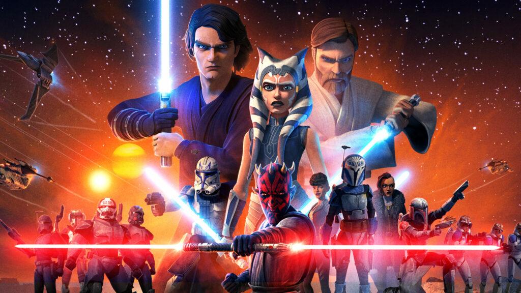 Key art for Star Wars The Clone Wars' Final Season