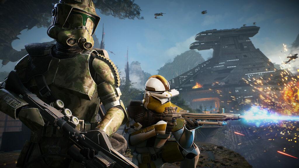 Clones on Kashyyyyk in Battlefront II