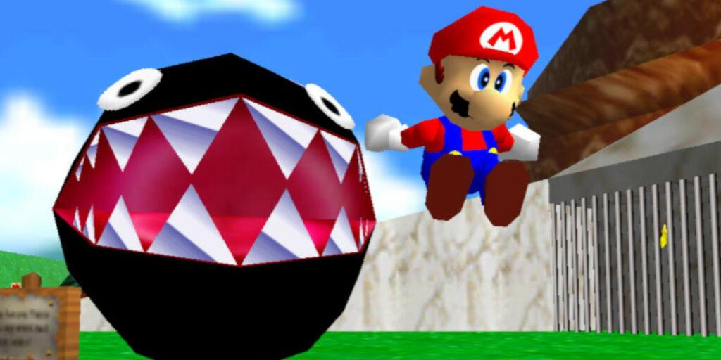 Mario in Bob-Omb Battlefield