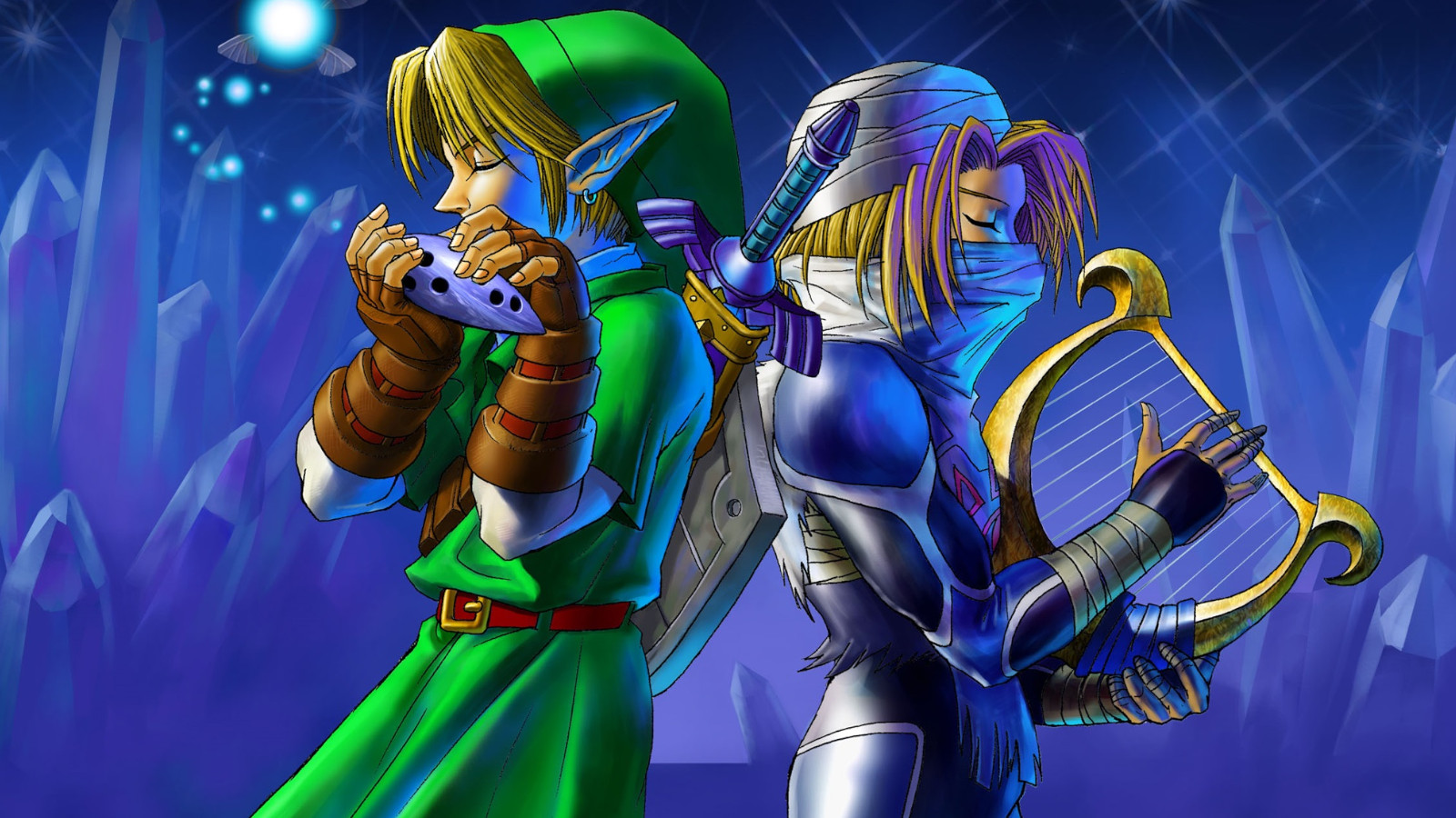 Link and Sheik Ocarina of Time