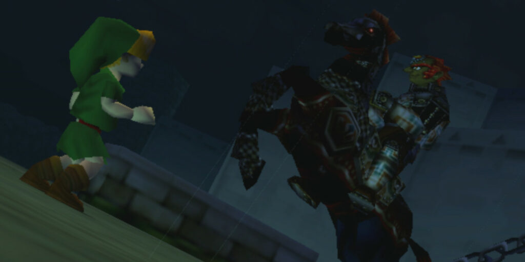 Link and Ganondorf in Ocarina of Time