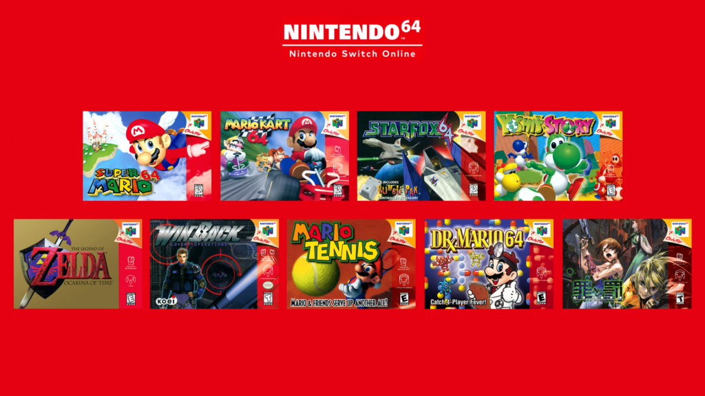 N64 games coming to Nintendo Switch Online