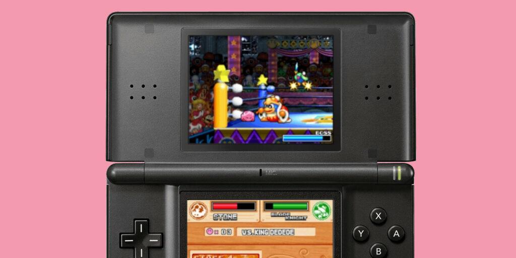 Kirby fighting King Dedede in Super Star Ultra