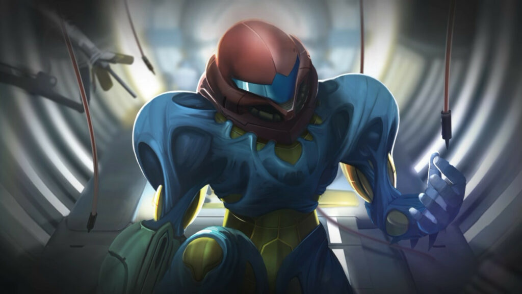 Samus in the Fusion Suit Metroid Dread