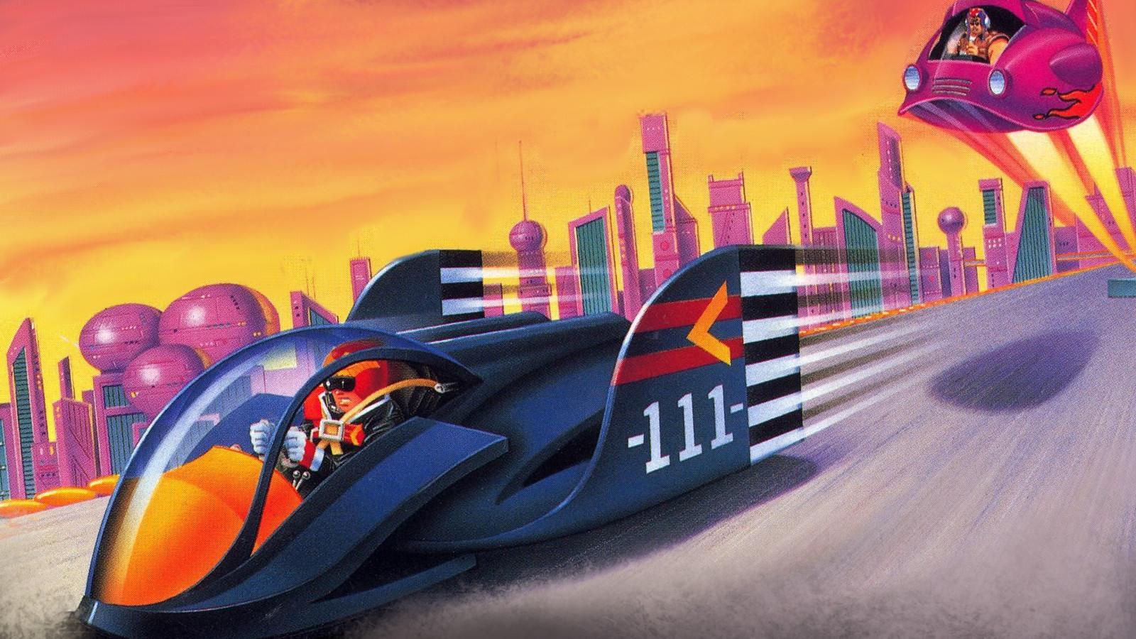 Official art for F-Zero SNES